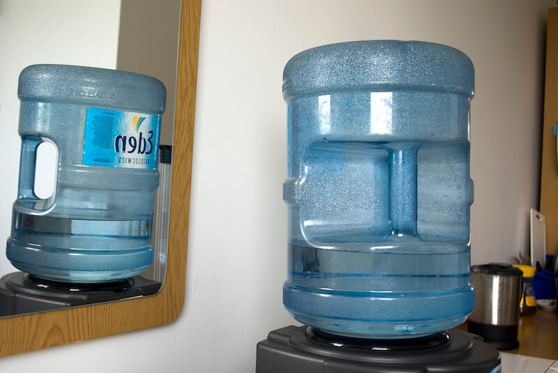 bottled water cooler in office
