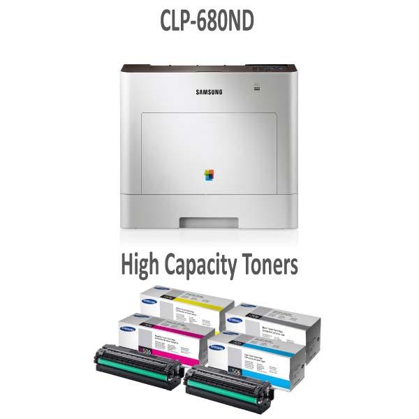 CLP680ND Printer and High Capacity Toner