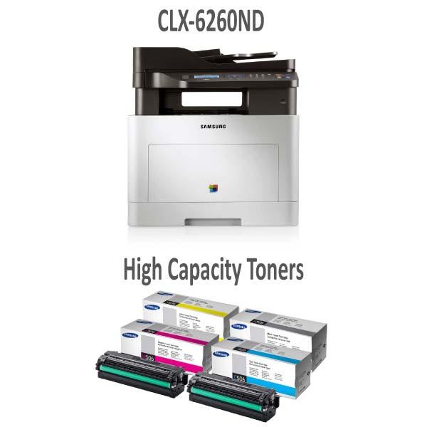 CLX6260ND Printer and High Capacity Toner