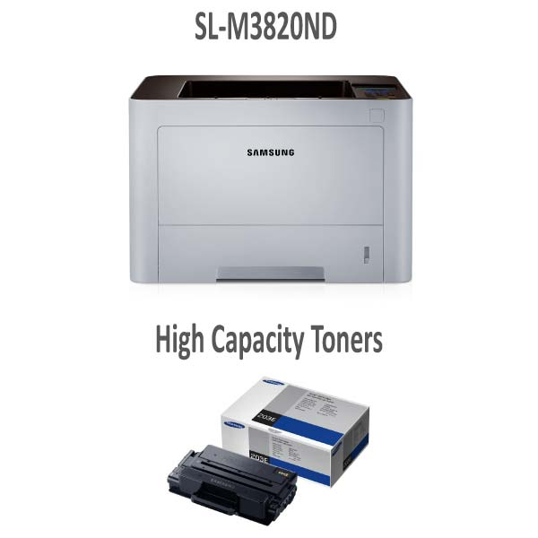 SLM3820ND Printer and Extra High Capacity Toner