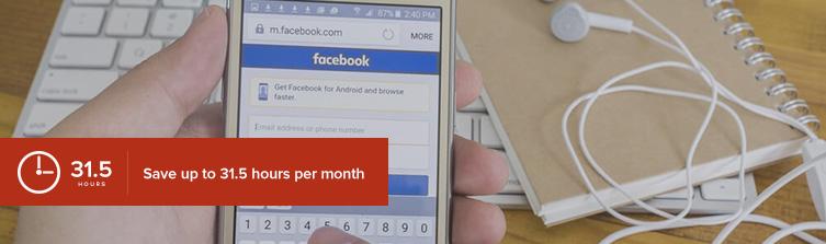 phone in hand facebook login screen